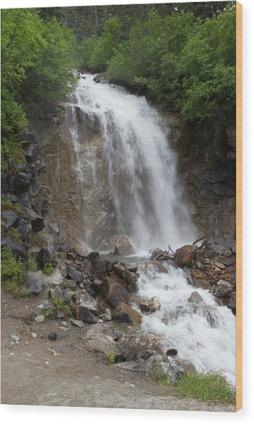 Klondike Waterfall Wood Print