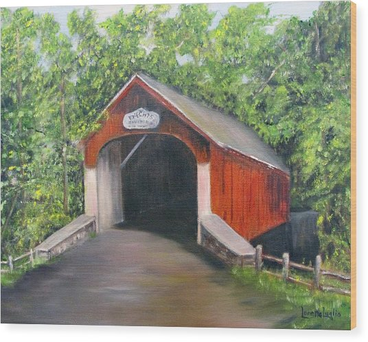 Knechts Covered Bridge Wood Print