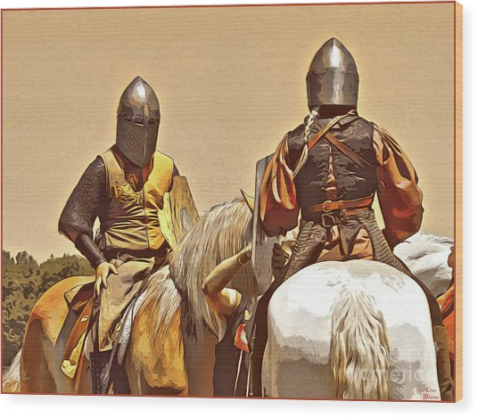 Knight's Conference Wood Print