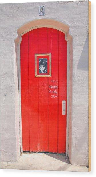Knockin On Heaven's Door Wood Print