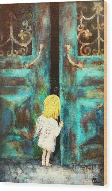 Knocking On Heaven's Door Wood Print