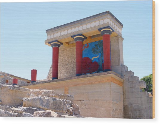 Knossos North Gate View Wood Print
