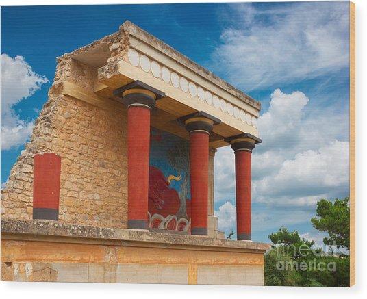 Knossos Palace At Crete, Greece Wood Print