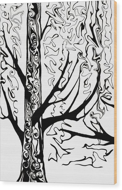 Knots Wood Print by Jeff DOttavio
