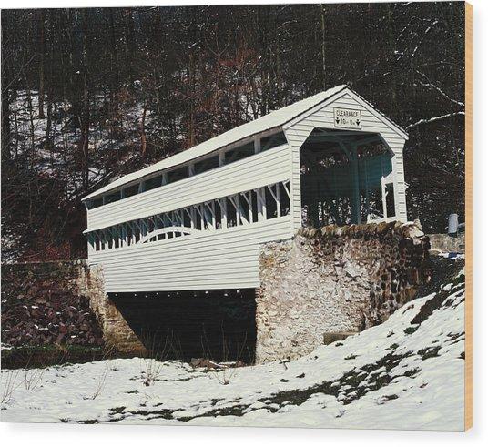 Knox Covered Bridge Historical Place Wood Print