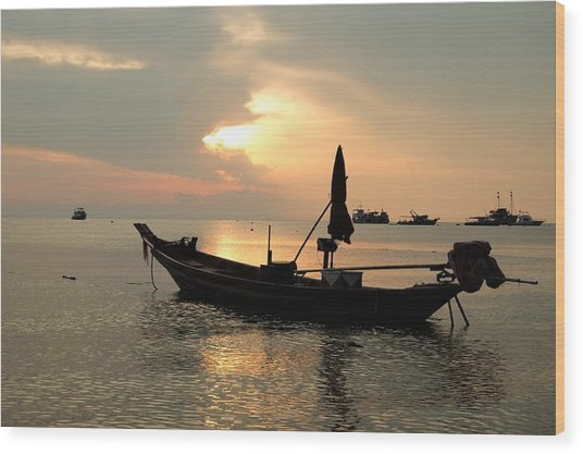 Ko Tao In Evening Wood Print