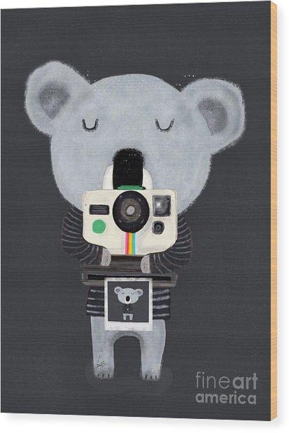 Koala Cam Wood Print