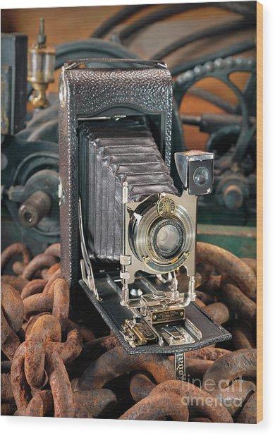 Kodak No. 3a Autographic Camera Wood Print