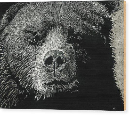 Kodiak Moment Wood Print