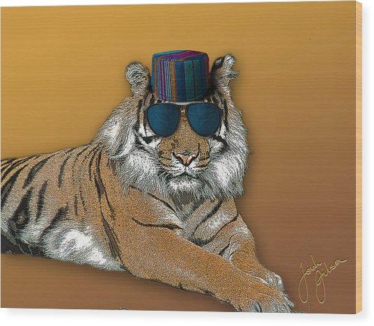 Kofia Tiger With Shades Wood Print