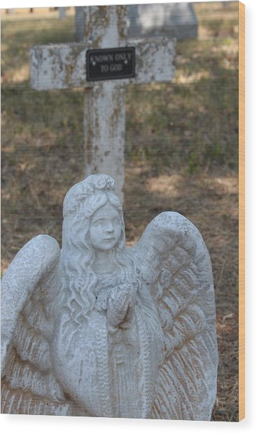 Kog Angel Wood Print by PhotoPhotopia Melody Fulton
