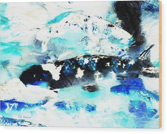 Koi Abstract 2 Wood Print
