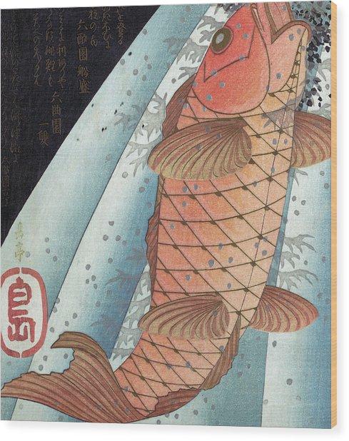 Koi Carp Wood Print