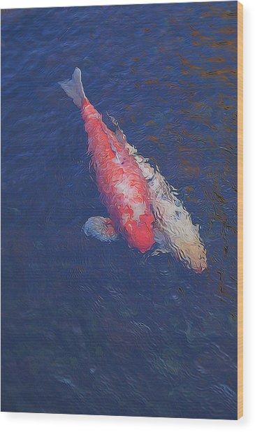 Koi Fish Partners Wood Print