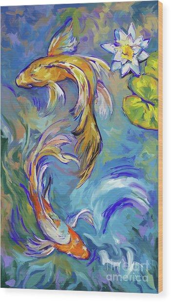 Koi Fish2 Wood Print