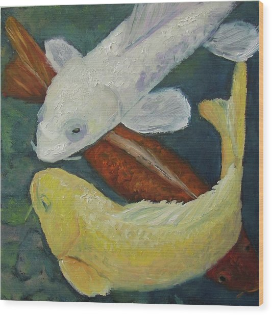 Koi Wood Print