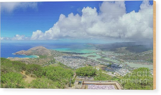 Kokohead Oahu, Hawaii Wood Print