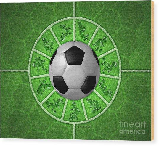 Kokopelli Soccer Wood Print