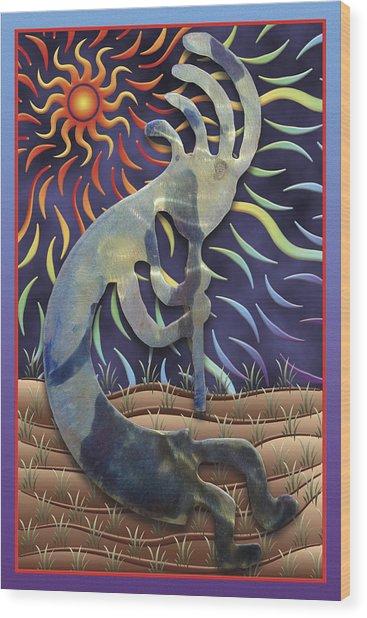 Kokopelli Spring Wood Print