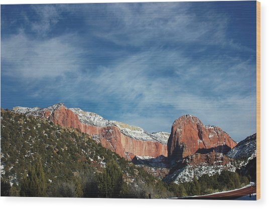 Kolob Canyon Wood Print