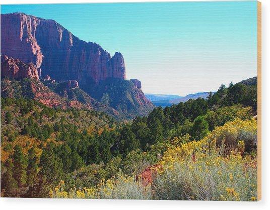 Kolob Canyon Wood Print