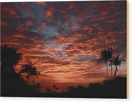 Kona Fire Sky Wood Print