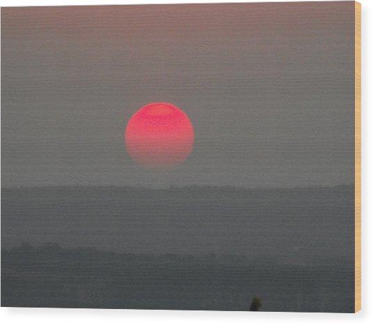 Konza Sunset Wood Print