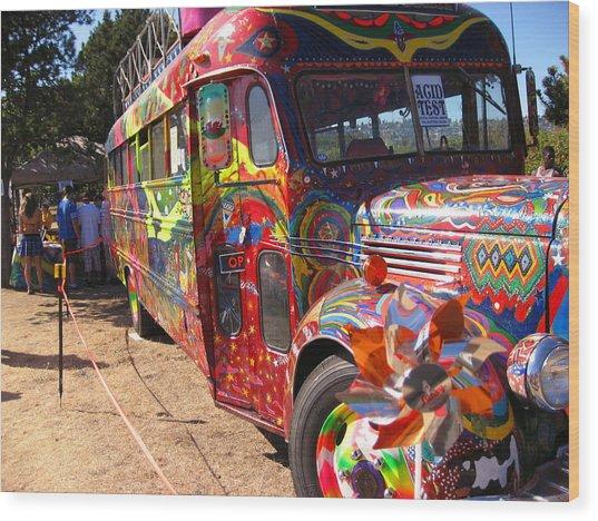 Kool Aid Acid Test Bus Wood Print