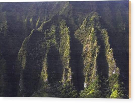 Koolau Range, Oahu Wood Print