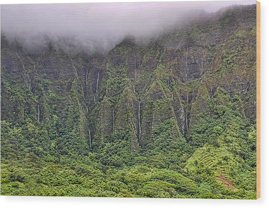 Ko'olau Waterfalls Wood Print