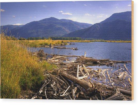 Kootenai Lake Bc Wood Print