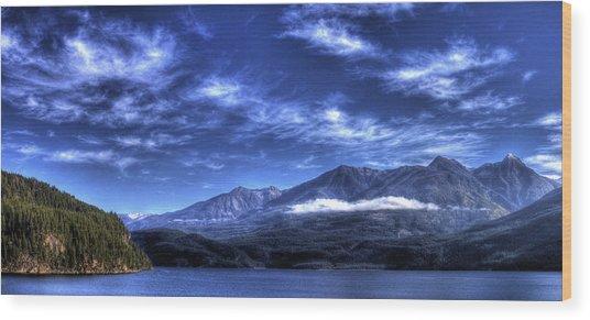 Kootenai Lake From Kaslo Wood Print