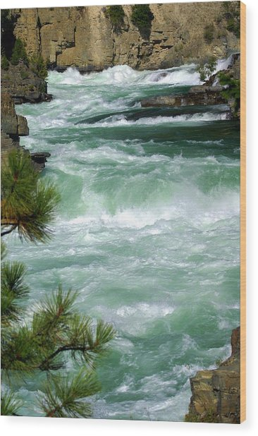 Kootenai River Wood Print