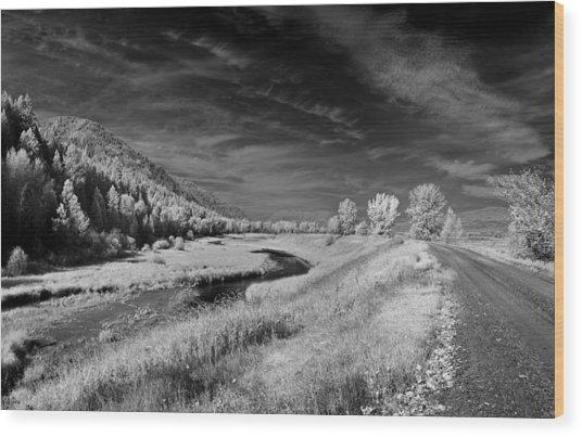 Kootenai Wildlife Refuge In Infrared 2 Wood Print