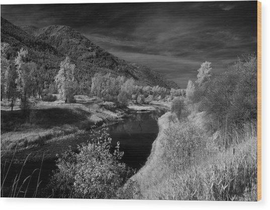 Kootenai Wildlife Refuge In Infrared 3 Wood Print