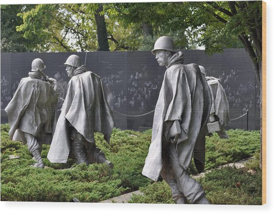 Korean War Memorial 3 Wood Print