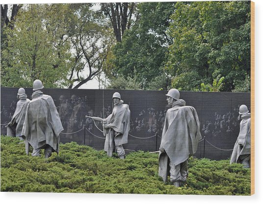 Korean War Memorial 4 Wood Print