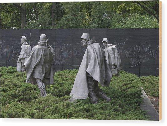 Korean War Veterans Memorial Wood Print
