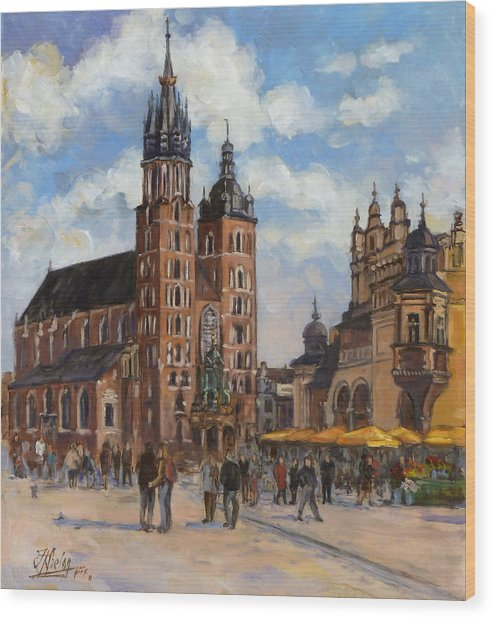Krakow - Mariacki Church Wood Print