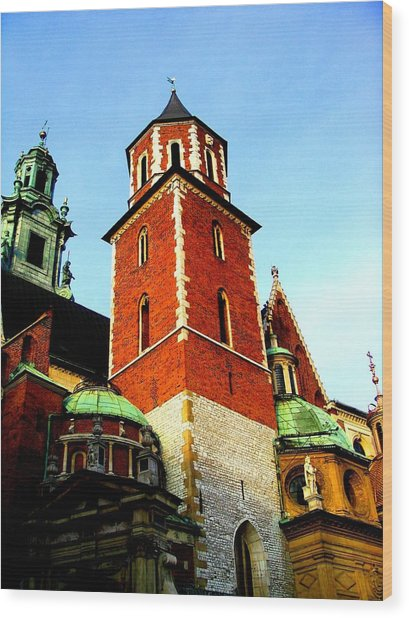 Wood Print featuring the photograph Krakow Poland by Michelle Dallocchio