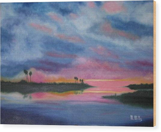 Kramer Island Sunset Wood Print