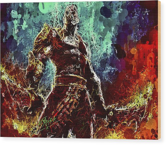 Kratos Wood Print