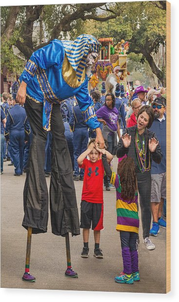Krewe Of Thoth Greeting Wood Print