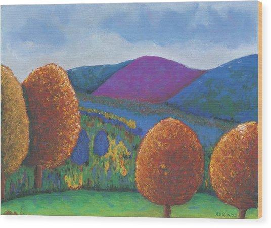 Kripalu Autumn Wood Print