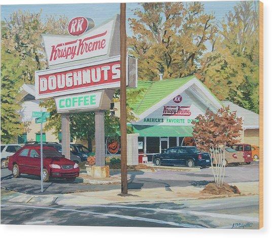 Krispy Kreme At Daytime Wood Print