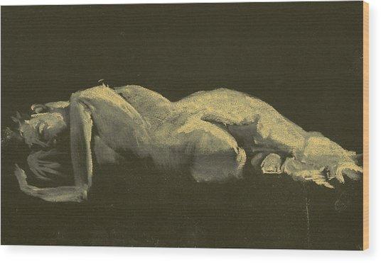 Kroki 2014 09 27_3figure Drawing White Chalk  Wood Print