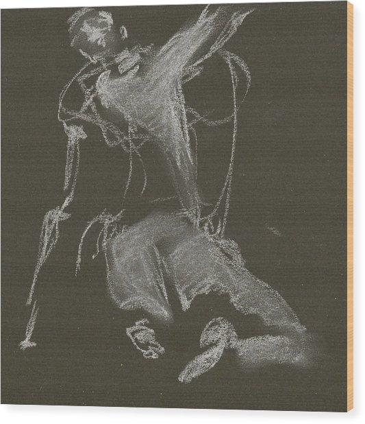 Kroki-2015-04-11-figure-drawing-white-chalk-marica-ohlsson-marica-ohlsson Wood Print