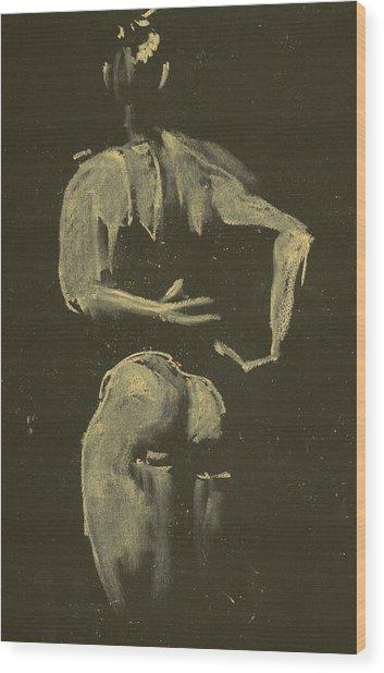 kroki 2014 09 27_4 figure drawing white chalk Marica Ohlsson Wood Print