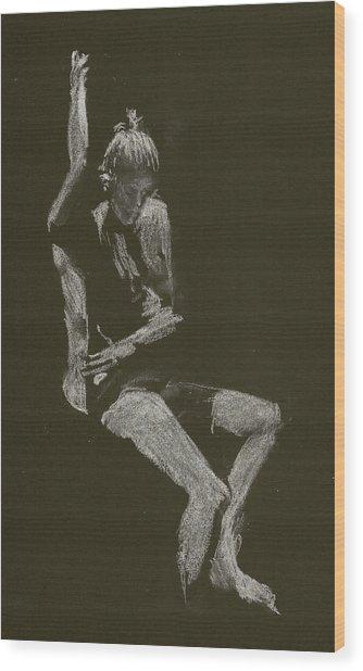 Kroki 2014 10 04_12 Figure Drawing White Chalk Wood Print