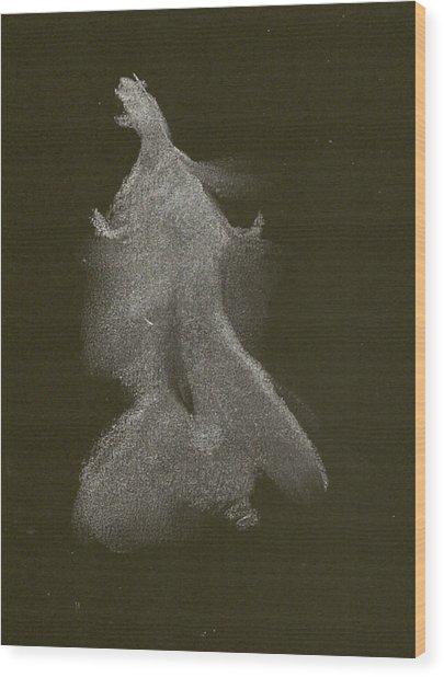 Kroki 2014 10 04_16 Figure Drawing White Chalk Wood Print